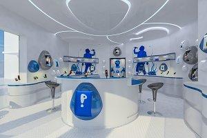 Modern Mobile Shop Interior