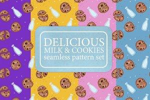 Milk & Chocolate chip cookie pattern