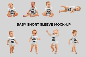 Baby Short Sleeve Mock-up