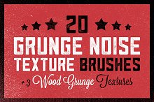 20 Grunge Noise Texture Brushes