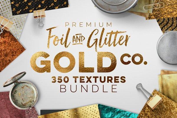 350 Gold & Metallic Textures