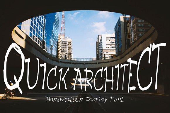 QUICK ARCHITECT A Handwritten Font