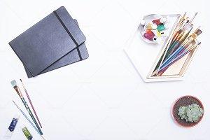 Artist Styled Desktop Flatlay - 1