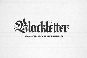 Blackletter Procreate Brushes