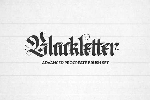 Blackletter Procreate Brushes Creative Market