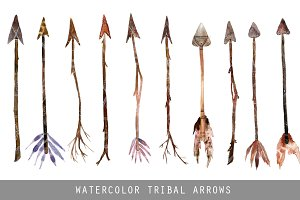 Watercolor Tribal Arrows