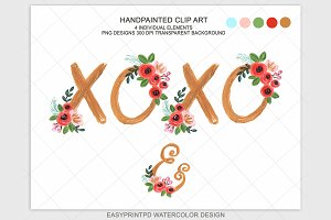 Xoxo Wedding Flower clip Art