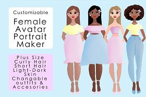 Personalized female portrait creator