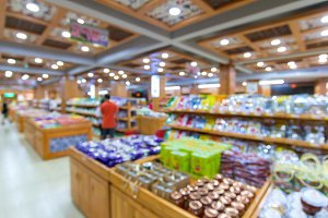 Blur of store for shopping