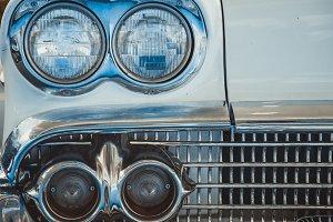 Headlight lamp of retro classic car