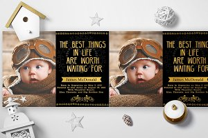 Gold Foil Adoption Cards