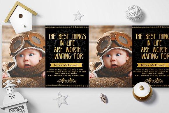 Gold Foil Adoption Cards