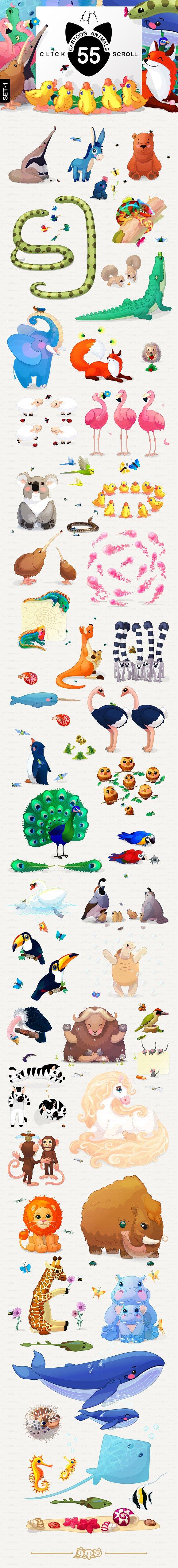 ♥ vector Animals Set 1 in Illustrations