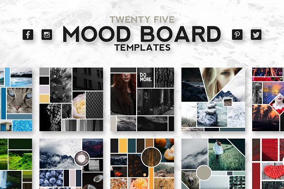 25 mood board templates instagram templates creative for Fashion mood board template
