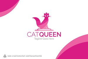 Cat Queen Logo Template