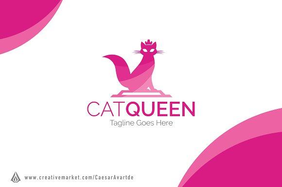 Cat Queen Logo Template