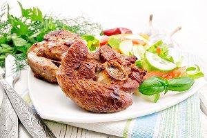 Turkey steak roasted