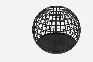 Wire Sphere Bin