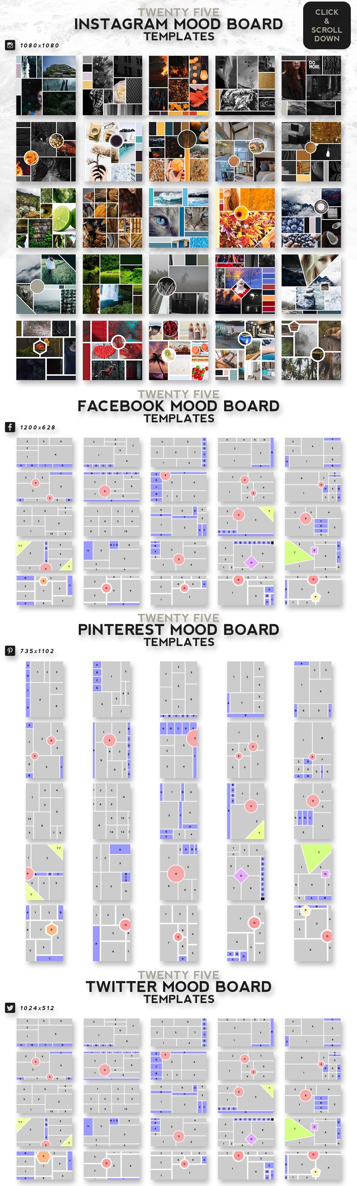 25 Mood Board Templates
