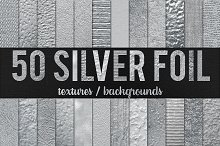 50 Silver Foil Textures - 50% OFF