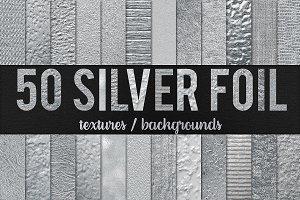 -50% 50 Silver Foil Textures
