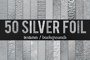 50 Silver Foil Textures - 50% OFF