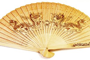 wooden Chinese fan
