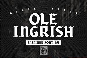 Ole Ingrish Font