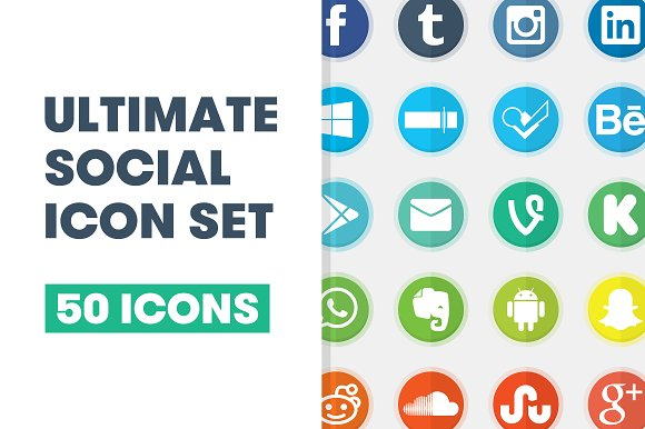 Ultimate Social Icon Set