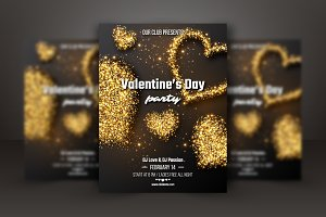 Valentine's day party poster.