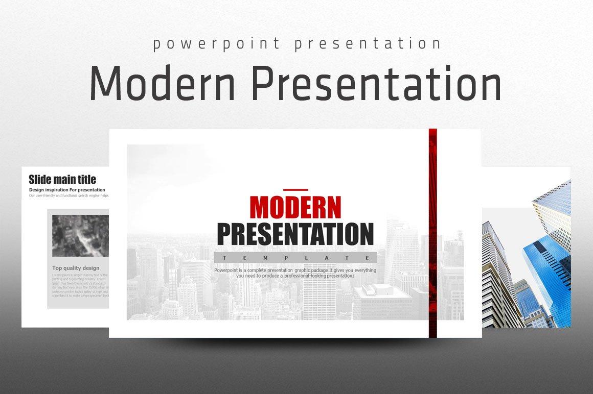 modern presentation presentation templates creative market