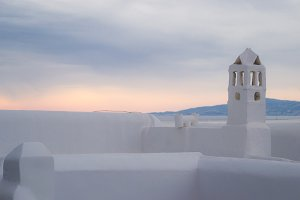 Mykonos Sunset in Pink and Purple