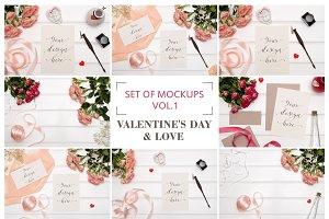 Set Mockups. Valentine's Day & Love