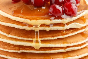 Pancake with honey