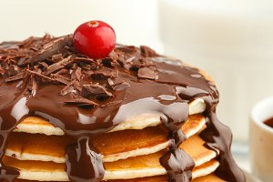 Pancake with chocolate