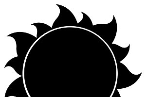 Black And White Simple Sun ~ Illustrations ~ Creative Market