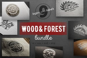 Wood work logo kit