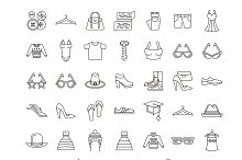 41 Clothing Line Icons