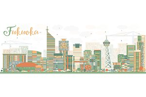 Abstract Fukuoka Skyline