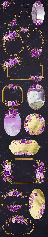 Violet Purple Watercolor Flowers Illustrations Creative Market