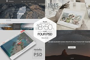 BUNDLE - Clean PSD Website Template