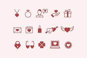 15 Romance & Love Icons