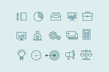 15 Thin Line Business Icons