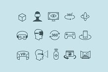15 VR & 3D Icons