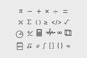 25 Math Symbol Icons