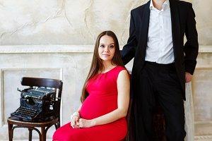 Pregnant loving couple