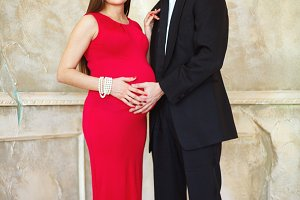 Pregnant loving couple