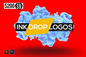 Ink Drop Logos Branding Kit