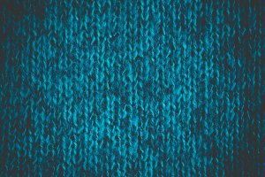 Bright blue-green wool