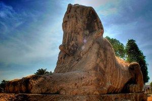 Alabaster sphinx, Memphis (Egypt)